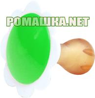 Соска-пустышка латексная Ромашка 0м+, вишенка, ТМ little Timmy 3138 Зеленый