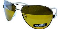 Мужские очки солнцезащитные akwa avatar polaroid в черной оправе