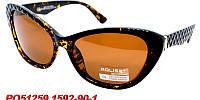Солнцезащитные очки aolise polaroid с черной оправой
