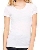 Футболка Bella + Canvas Women's Triblend Short Sleeve Tee White Fleck Triblend