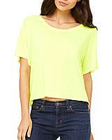 Футболка Bella + Canvas Women's Flowy Boxy Tee Neon Yellow