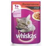 Whiskas (Вискас)  говядина в соусе, 100 гр