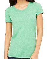 Футболка Bella + Canvas Women's Triblend Short Sleeve Tee Green Triblend New