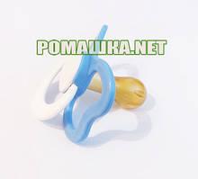 Соска-пустышка с кольцом латексная Ромашка 3м+, вишенка, ТМ little Timmy 3139 Голубой