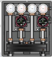 Универсальный насосно-смесительный модуль Kombimix с 2-мя прямыми контурами