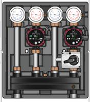 Универсальный насосно-смесительный модуль Kombimix с прямым и смесительным контурами