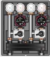 Универсальный насосно-смесительный модуль Kombimix с 2-мя смесительными контурами