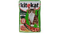 Kitekat паучи для кошек с ягненком в желе 100 гр