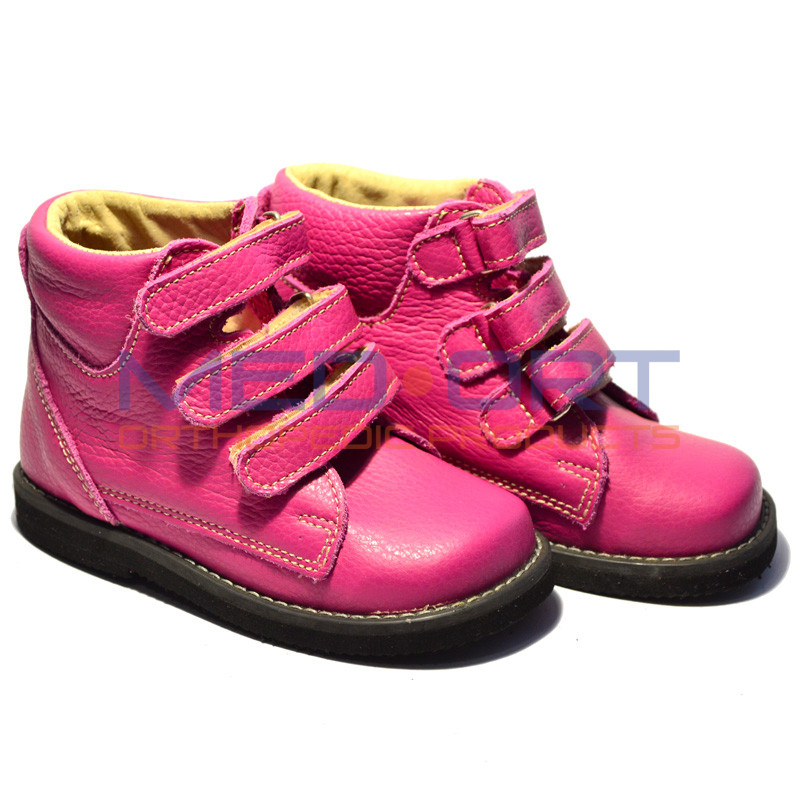 Детские ортопедические демисезонные ботинки из натуральной кожи Wik 13-12 Розовые - Medort - Ортопедическая продукция, товары для здоровья в Киеве