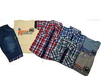 Костюм летний тройка (майка, рубашка, джинсовые шорты)  для мальчика, размер 4.6.8.10.12 лет, арт. AS-1506