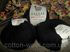 Gazzal Baby Cotton (беби коттон)  3433 черный