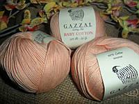 Gazzal Baby Cotton (беби коттон)  3412 персиковый
