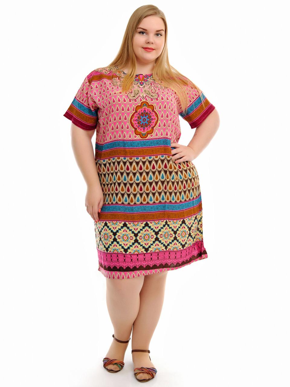 Летнее платье ткань штапель