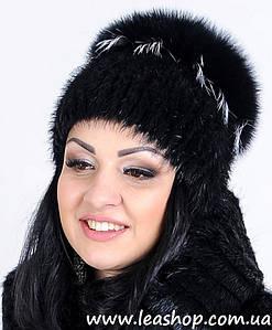 Жіноча песцева шапка кубанка
