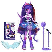 My Little Pony Девочки эквестрии Твайлайт Спаркл Рок-Звезда Equestria Girls Singing Twilight Sparkle