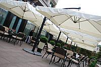 """Уличные двухкупольные консольные зонты """"DOUBLE XL 6х3м"""" для летних площадок баров, ресторанов и гостинниц"""