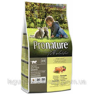 Pronature Holistic (Пронатюр Холистик) с курицей и бататом сухой холистик корм для котят 2,72кг