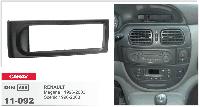 1-DIN переходная рамка RENAULT Clio 2005-2012; Modus 2004-2012; Megane 2003-2009; Scenic 2004-09, CARAV 11-032