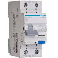 Диференційний автоматичний вимикач 1+N, 16A, 30 mA, С, 6 КА, A, 2м