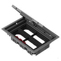 Напольный лючок Schneider Electric серии OptiLine45 на 8 механизмов Altira 45х45