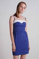 AMPL113-33-44 платье цвет электрик+белый