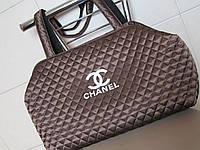 Модная стеганая сумка из плащевки бронзовая, фото 1