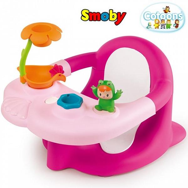 Стульчик для купания 2 в 1 Cotoons Smoby розовый