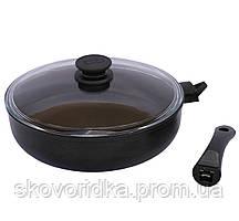 Сковорода со съемной ручкой и крышкой Биол Элегант 26 см (26091ПС)