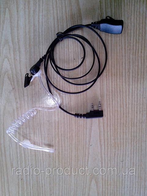 Двухпроводная гарнитура с прозрачным звуководом Kenwood, Wouxun, Quansheng, etc