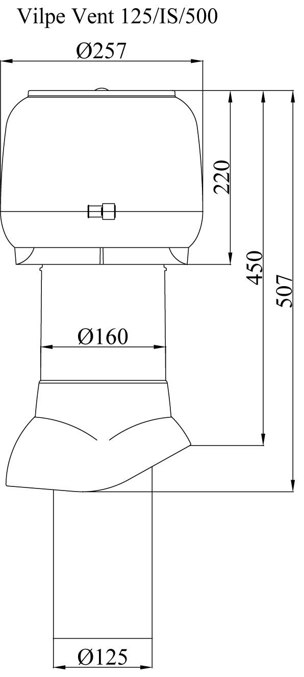 вентиляционный выход, воздуховод