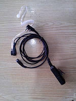 Ларингофон с прозрачным звуководом Kenwood, Wouxun, Quansheng, etc