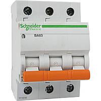 Автоматический выключатель ВА63 3р 6А, С (домовой) Schneider Electric