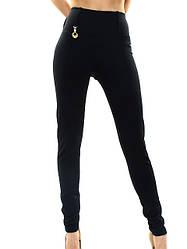 Утягивающие женские лосины чёрные.