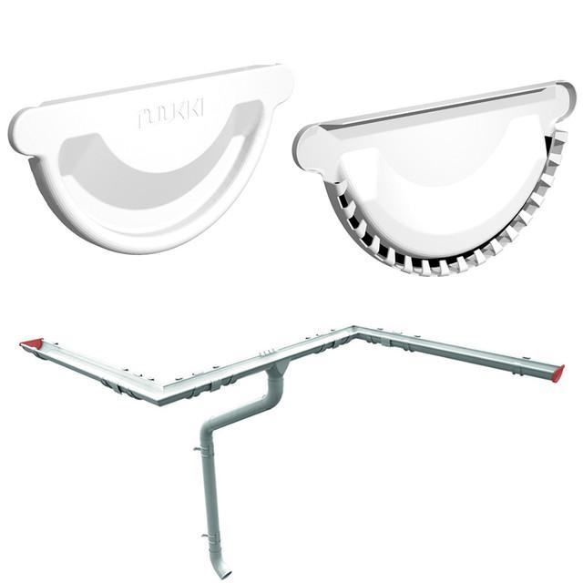 Заглушка для желоба Ruukki 125 мм универсальная, шт., Металлический водосток Ruukki комплектующие