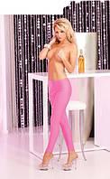 Pink Lipstick - Sleek and shiny pink leggings, S/M