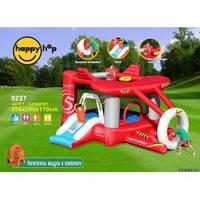 Детский надувной батут HAPPY-HOP Самолет с горкой и шариковым бассейном 9237 HAPPY-HOP игровой центр