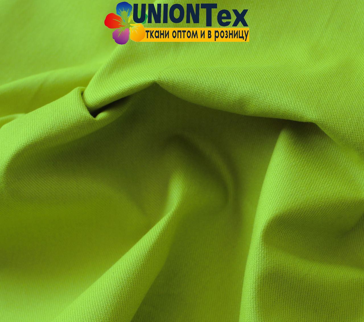 Ткань парка салатовый цвет (190 г/м.кв)
