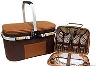 Набор для пикника  с изотермической сумкой на 4 персоны