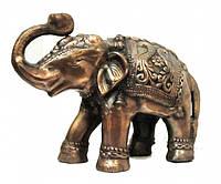 Слон алюминиевый бронзовой окраски (са-08)