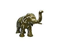 Слон алюминиевый, бронзовая окраска (са-09)