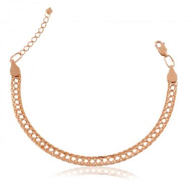 Женский браслет из красного золота - 4.71 гр