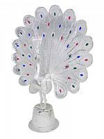 Павлин алюминиевый с камнями, 2 цвета