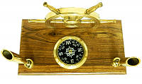 Канцелярские принадлежности: подставка под ручки с штурвалом и компасом (кп-65)