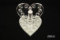 Подставка для кистей пластиковая сердце PDK-01,YRE
