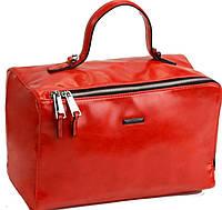 Стильная сумка-баулет красного цвета от Velina Fabbiano Новинка
