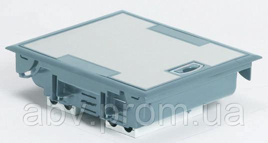 Коробка напольная серая 12 модулей, крышка из стали с антикоррозионным покрытием    - АБВ СИСТЕМ в Киеве