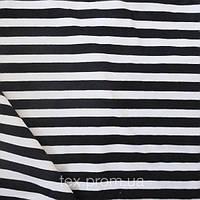 Трикотажное полотно полиамид 100%, полоска черная
