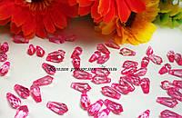 Бусины ромб с гранями розовый