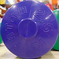 Гантеля с пластиковым покрытием  2,5 кг