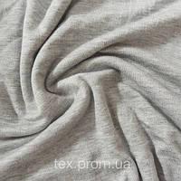 Трикотажное полотно ви/эл ринг, серый меланж